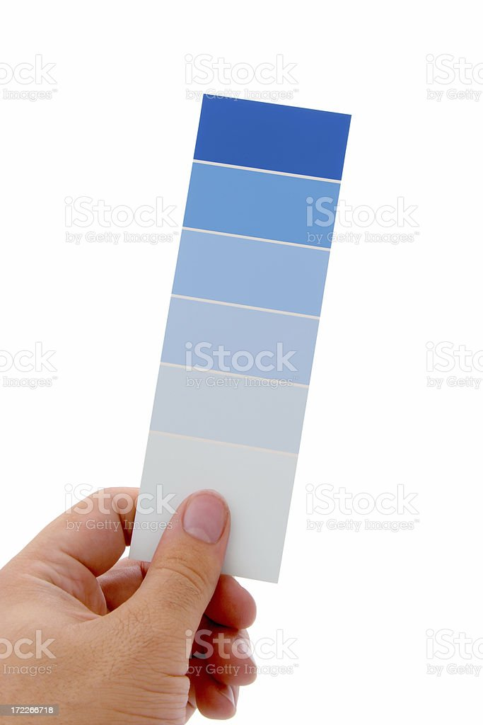 Hand Holding Color Swatch royalty-free stock photo