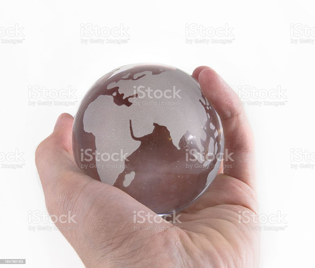 Hand Holding Globe royalty-free stock photo