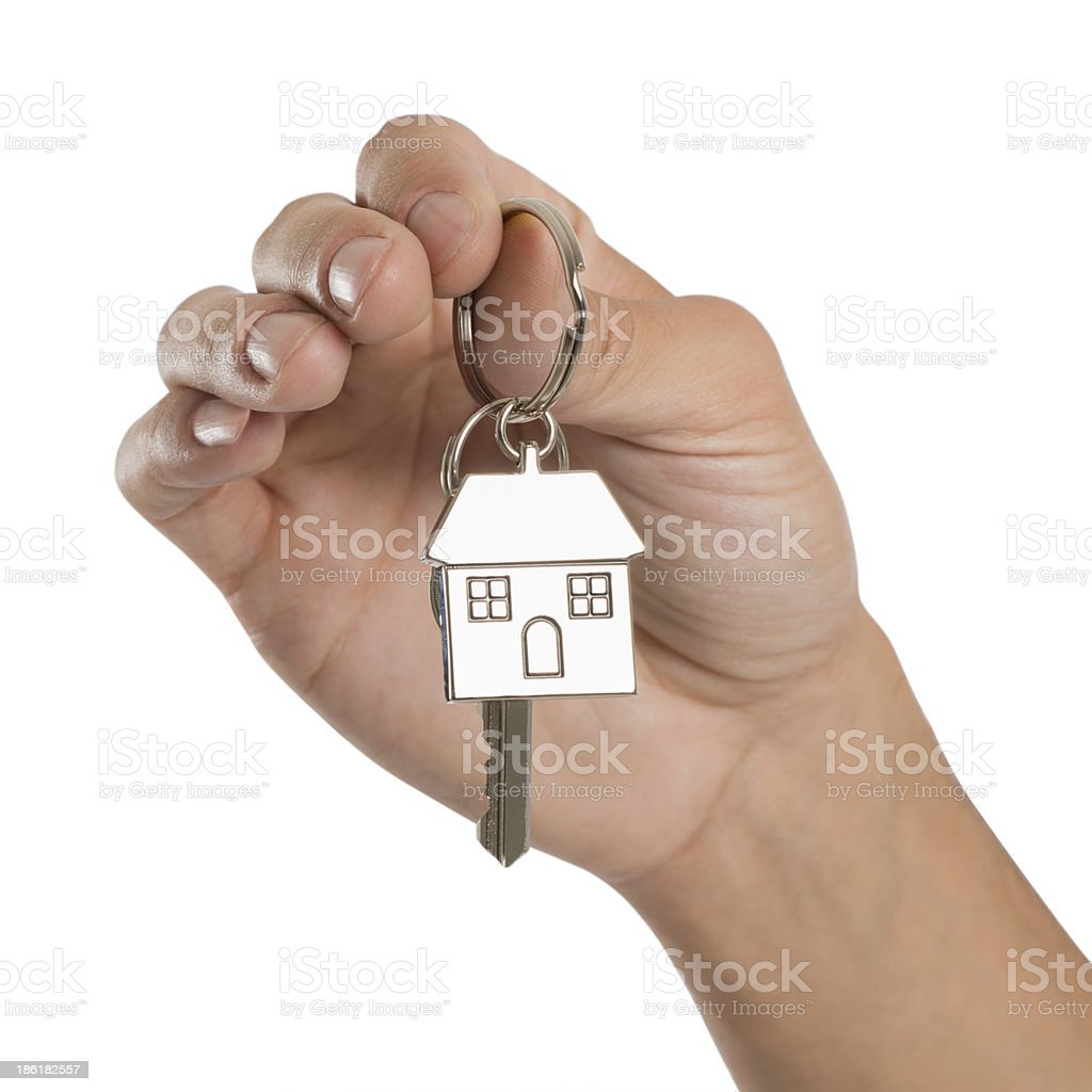 Hand Holding House Key royalty-free stock photo