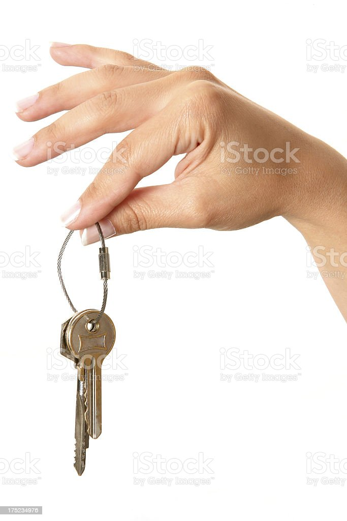 Hand Holding Key royalty-free stock photo