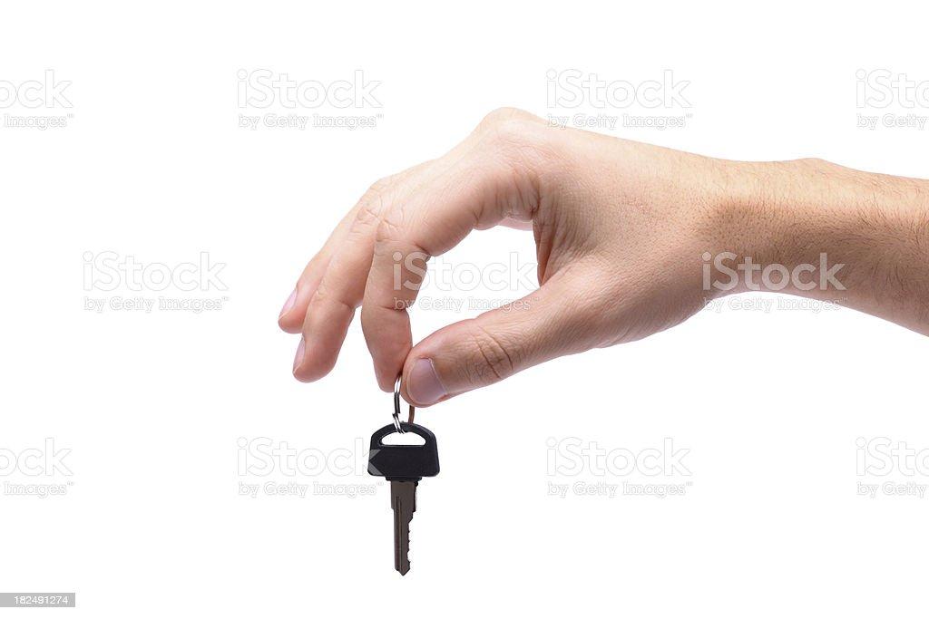 Hand Holding Key royalty-free stock photo