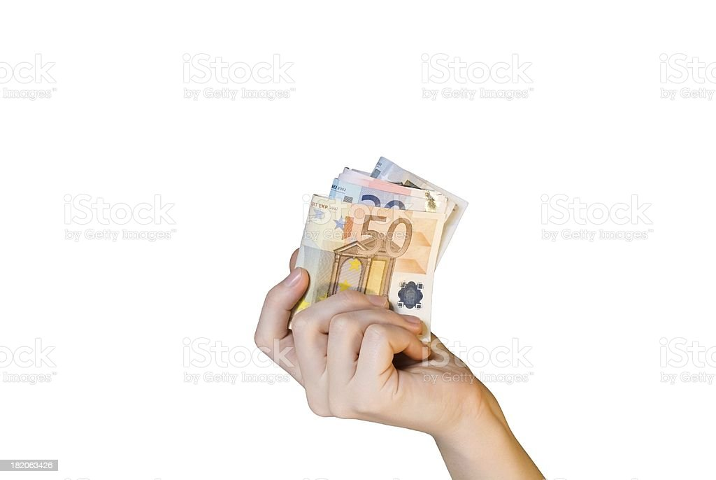 hand holding money royalty-free stock photo