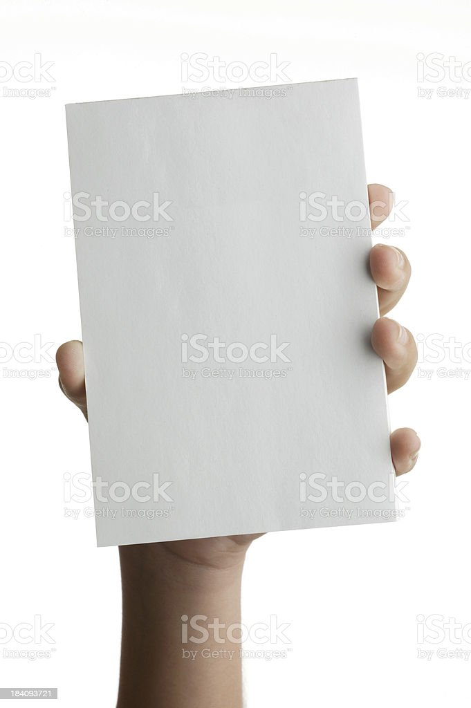 Hand holding note pad royalty-free stock photo