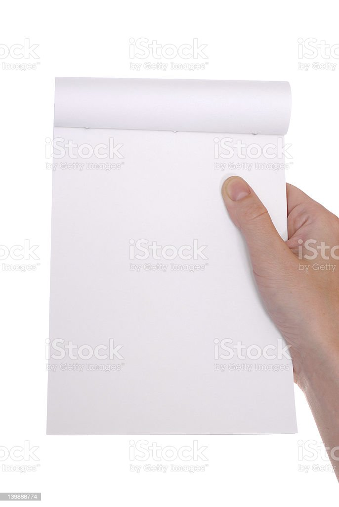 hand holding note royalty-free stock photo