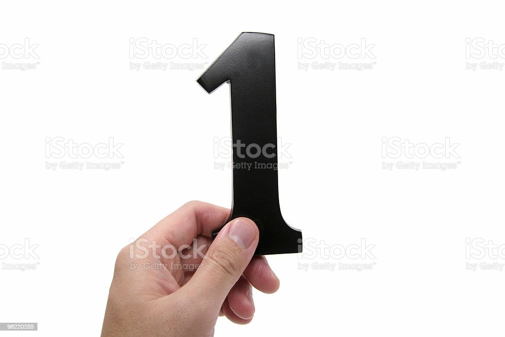 hand holding number 1 royalty-free stock photo