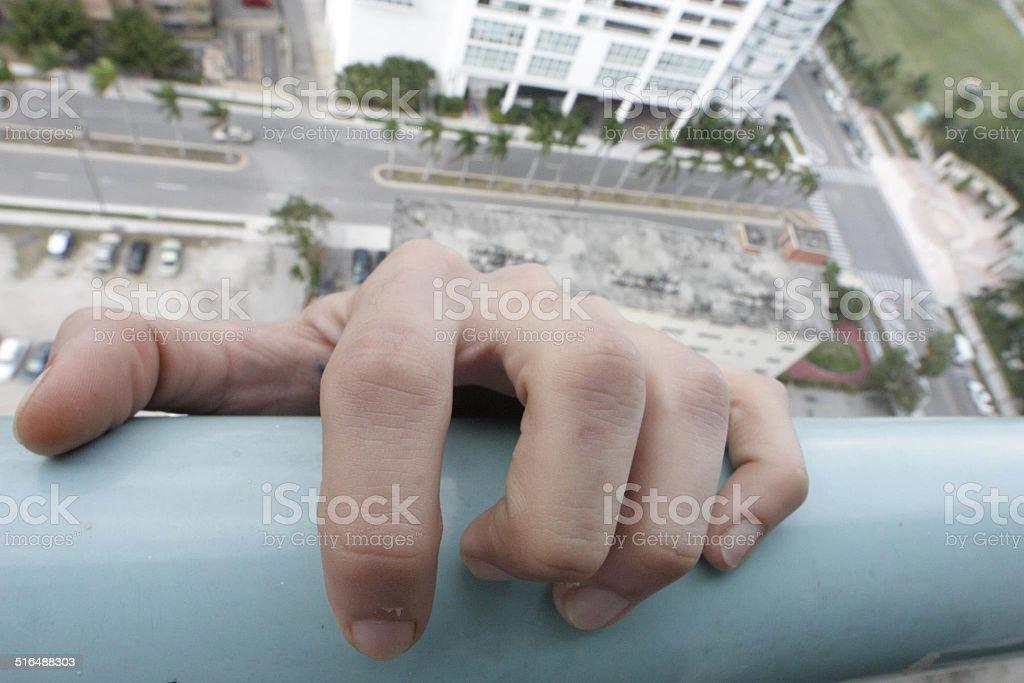 Hand holding on!! stock photo