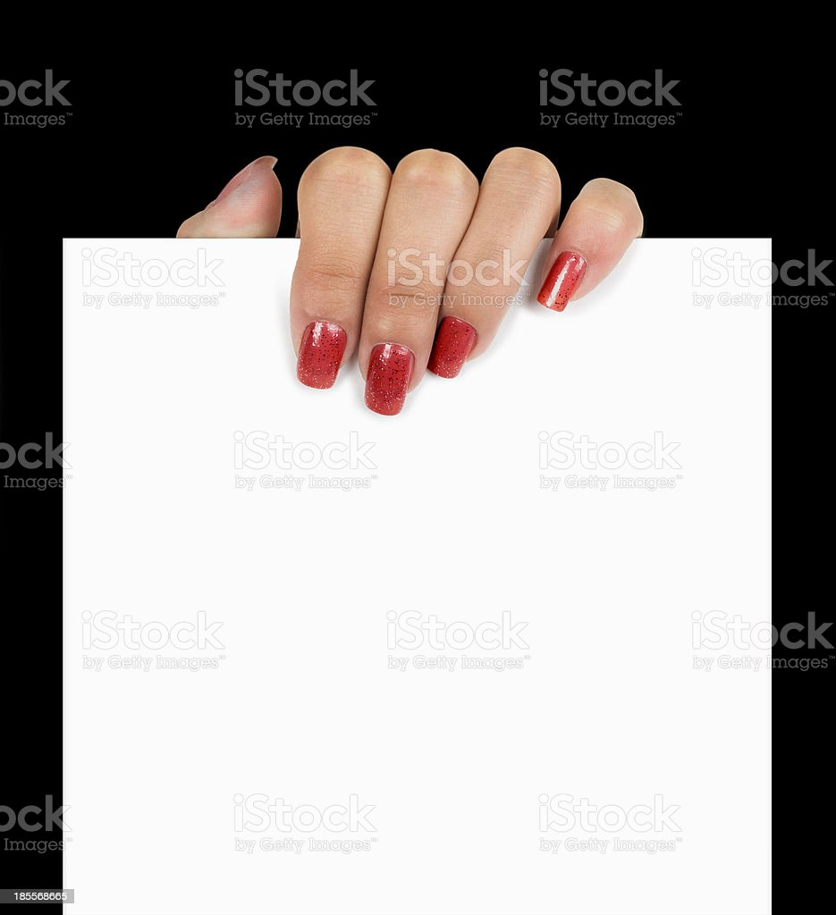 hand holding page royalty-free stock photo