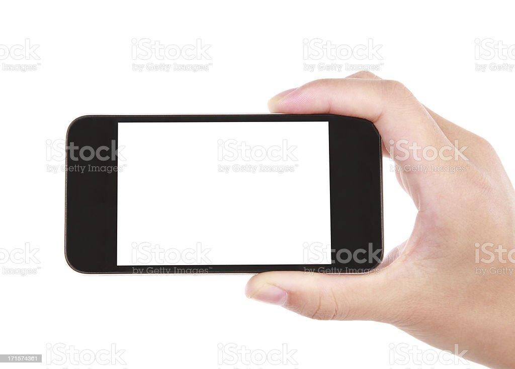 hand holding phone -XXL stock photo