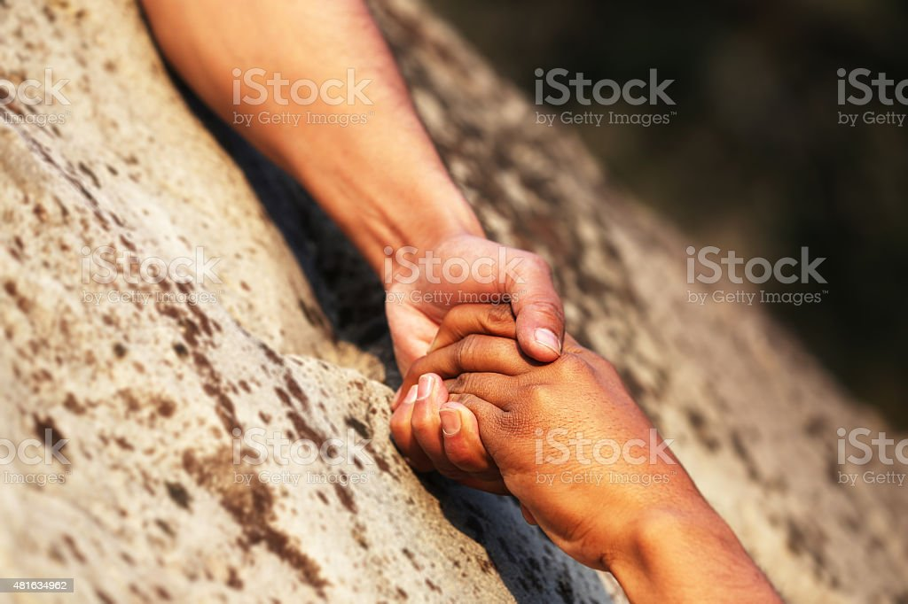 Hand Holding ! stock photo