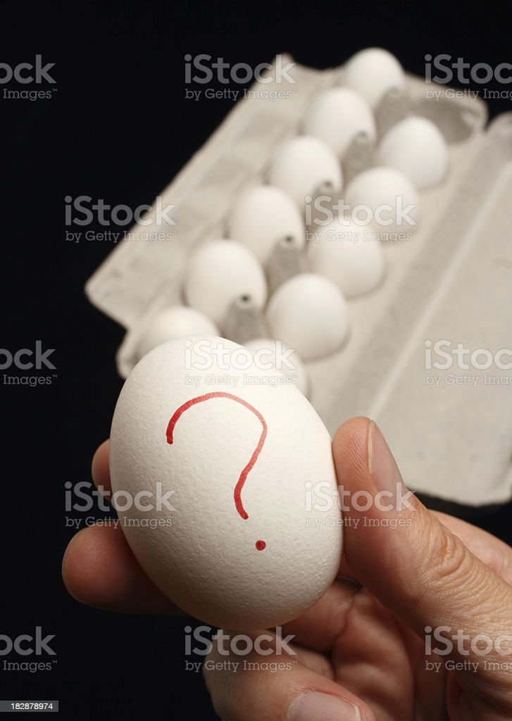 Hand Holding Salmonella Infected Egg royalty-free stock photo
