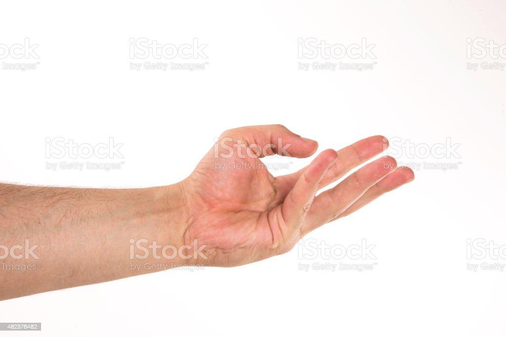 hand holding something stock photo