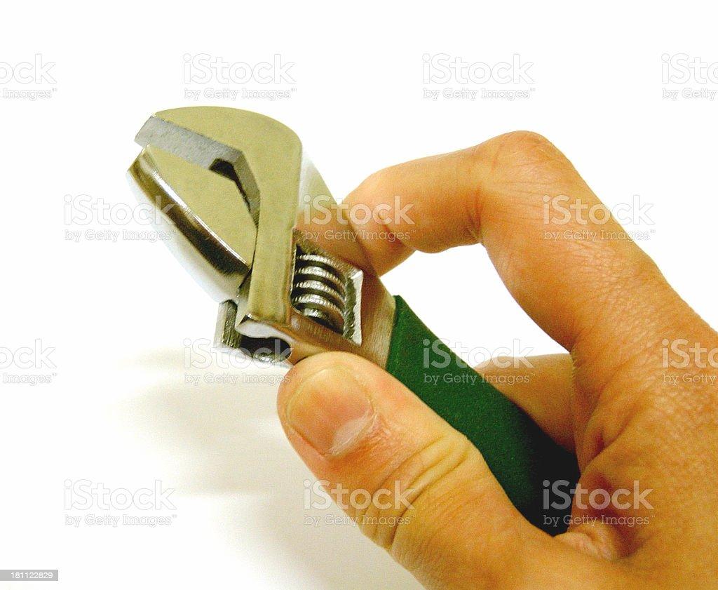 Mano agarrando llave foto de stock libre de derechos