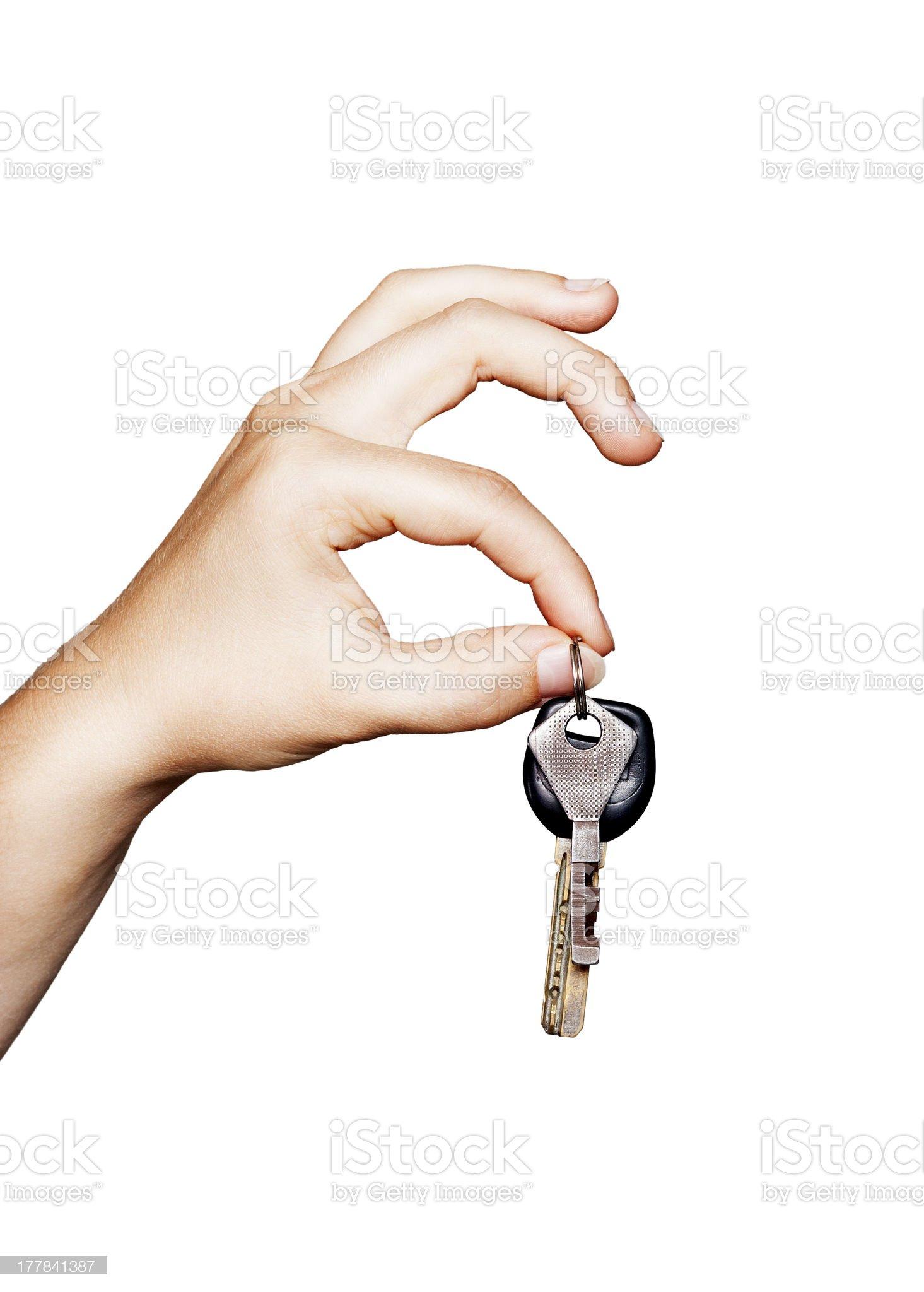 Hand holding the keys royalty-free stock photo