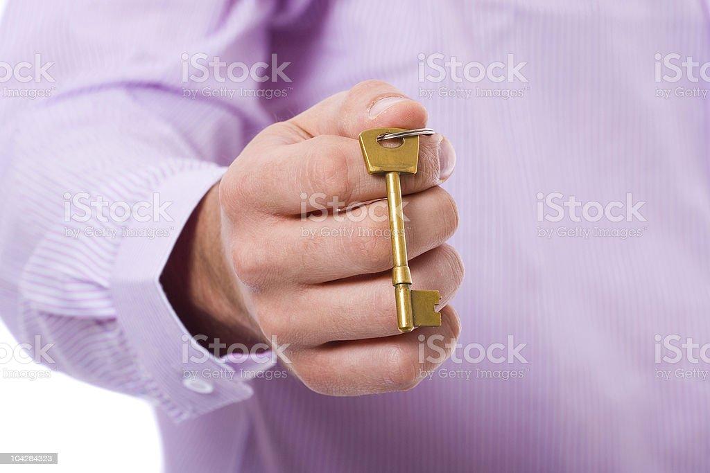 hand holds door, house key stock photo