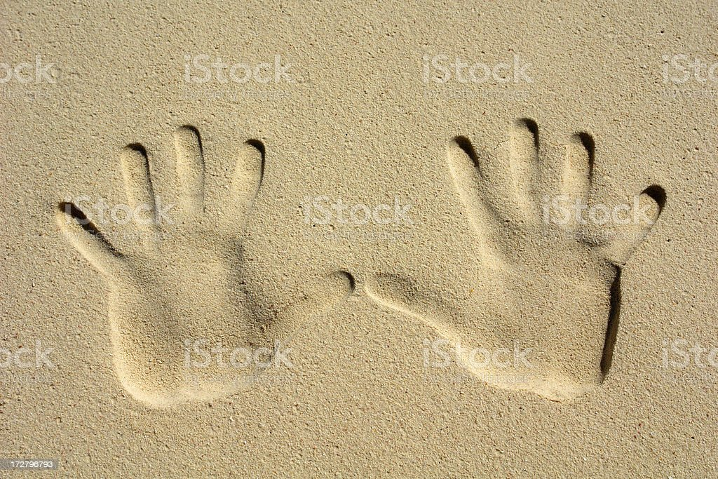 Hand Imprints royalty-free stock photo