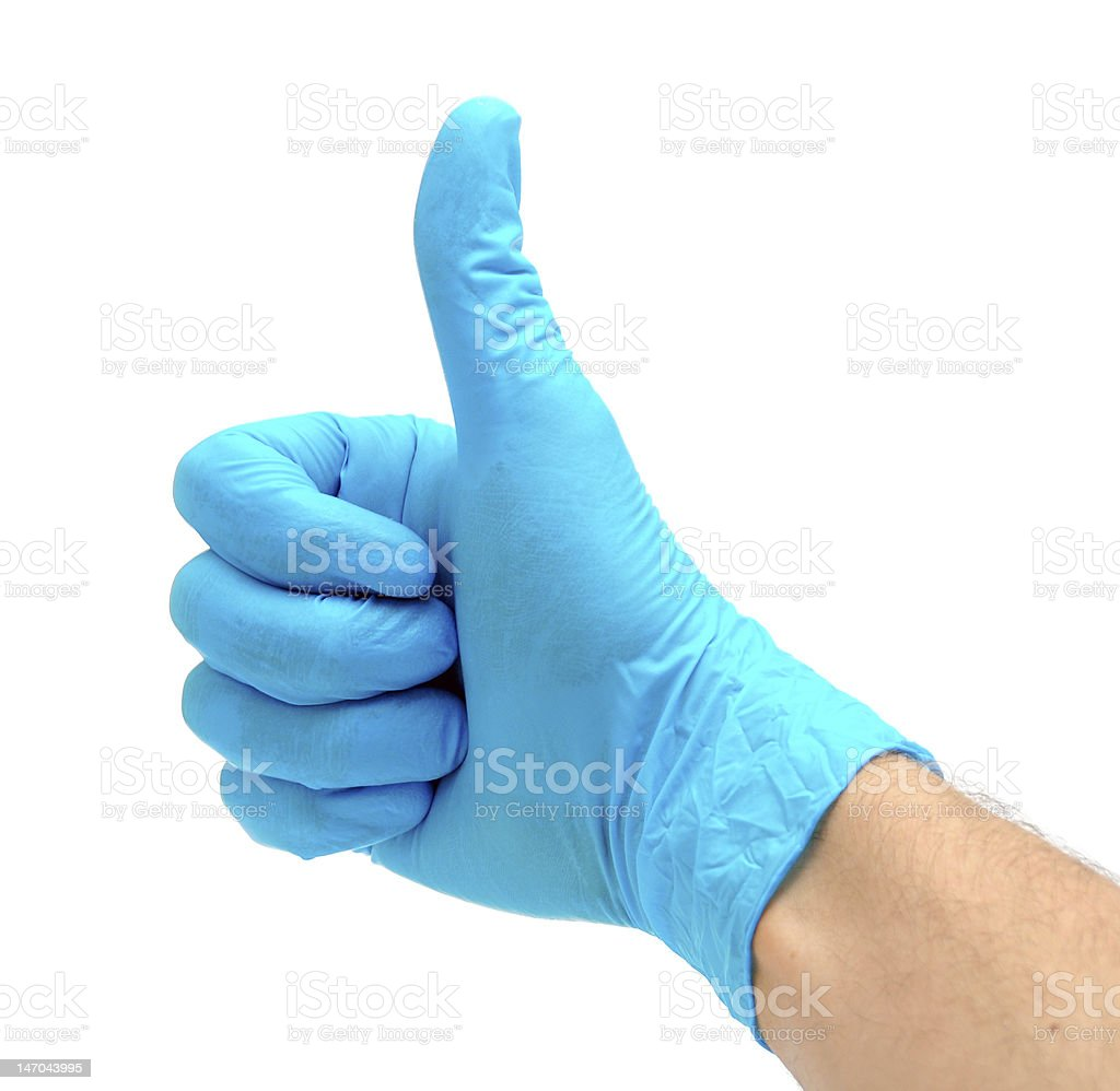 Hand in glove royalty-free stock photo