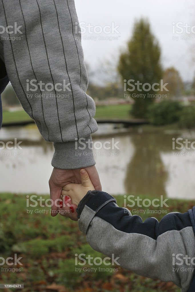 Hand in hand royalty-free stock photo