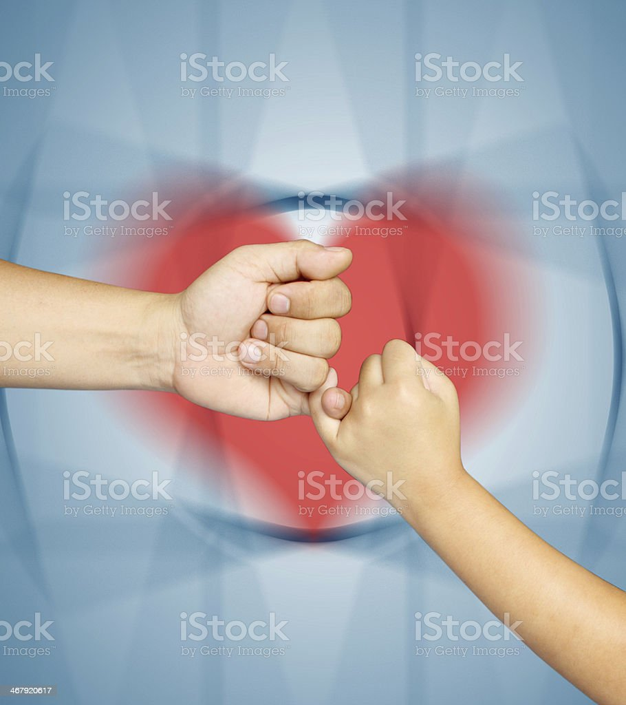hand in love stock photo