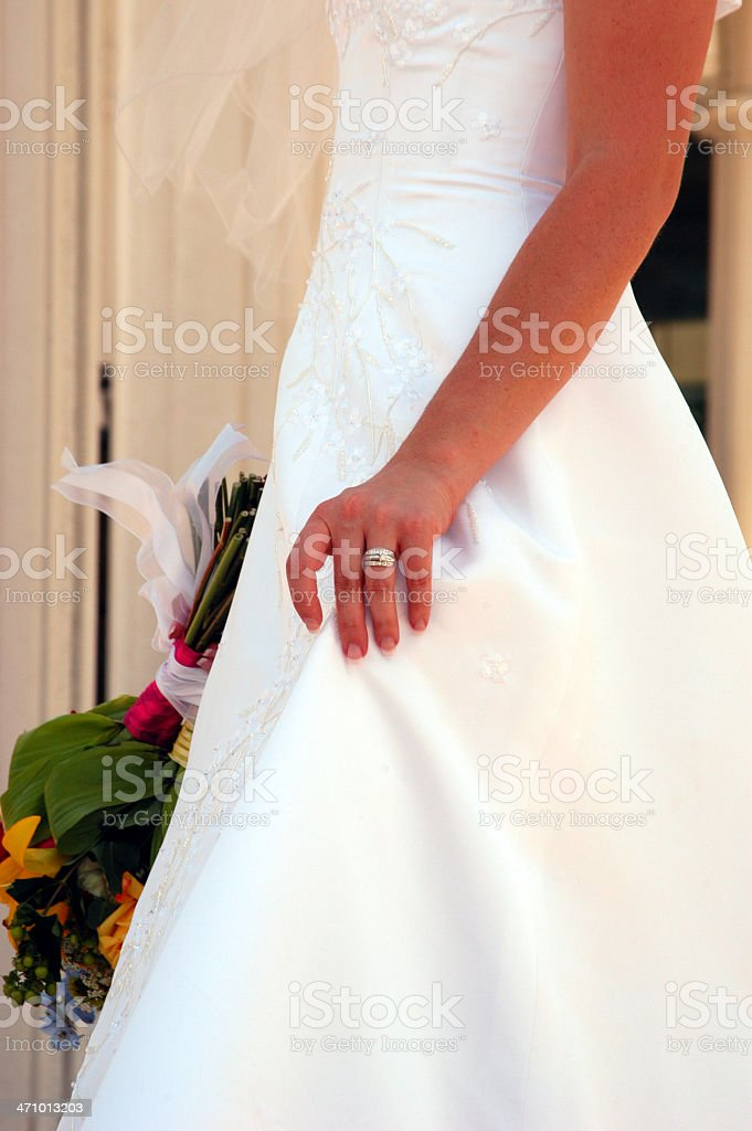 Hand in Marriage royalty-free stock photo