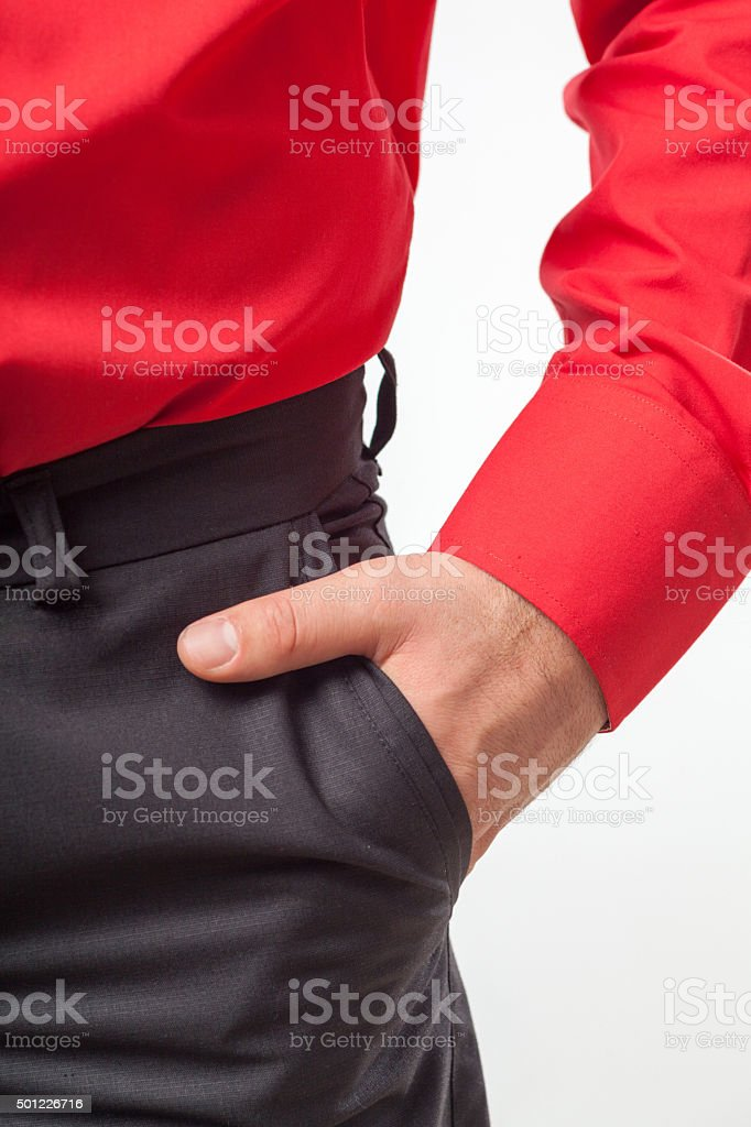 hand in pocket stock photo