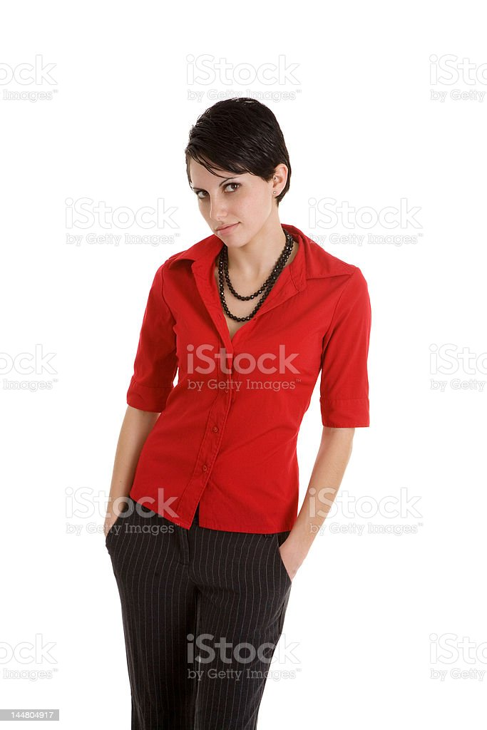 Hand in pockets royalty-free stock photo