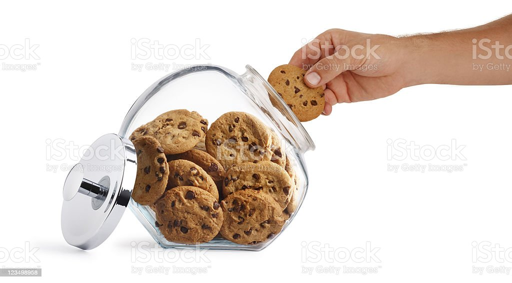 Hand in the Cookie Jar royalty-free stock photo