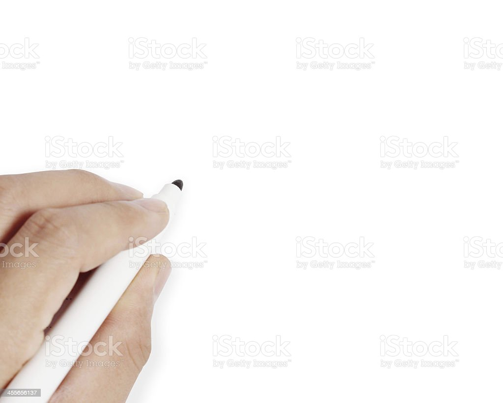 hand is ready for drawing royalty-free stock photo