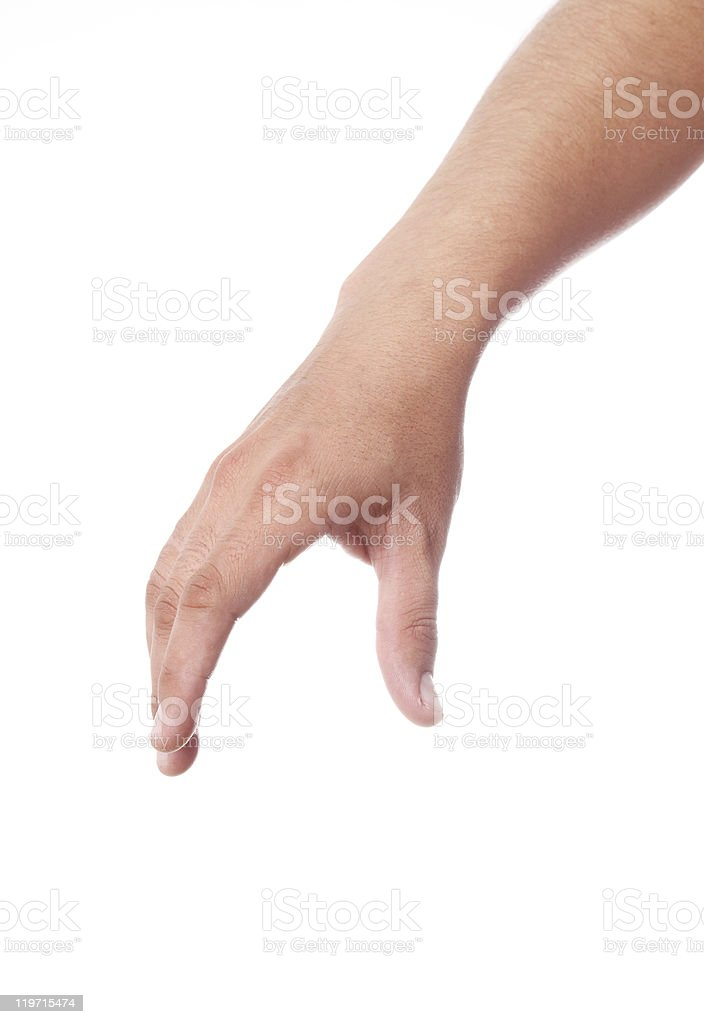 Hand Isolated stock photo