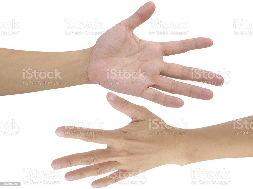 hand isolated royalty-free stock photo