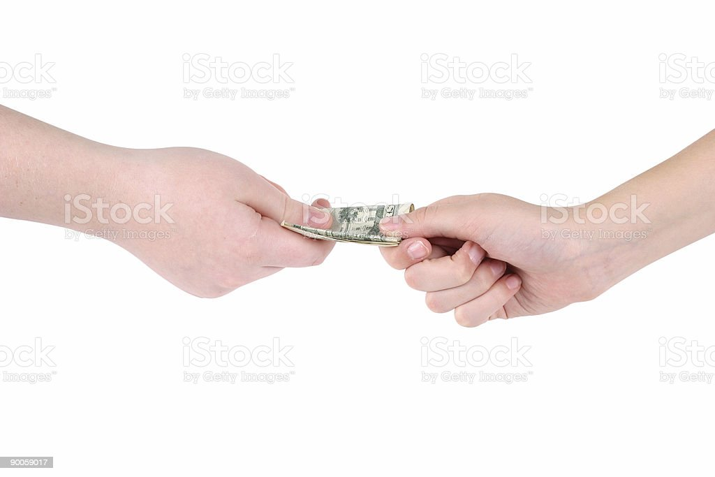 Hand It Over royalty-free stock photo