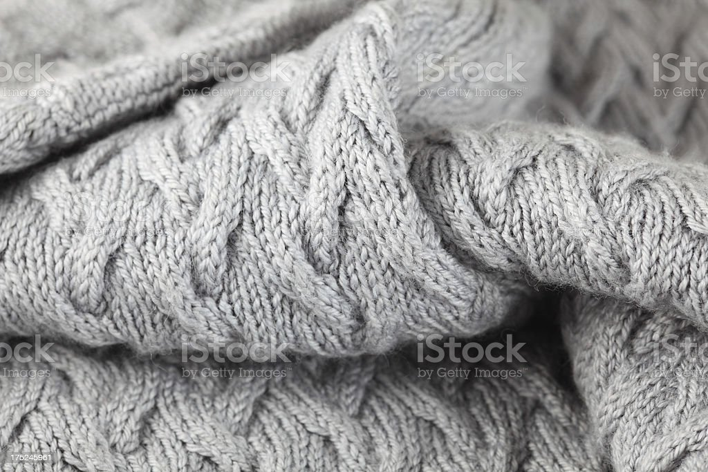 Hand knitted sweater. stock photo