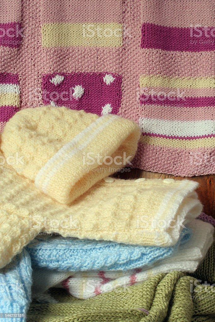 Hand knitting stock photo