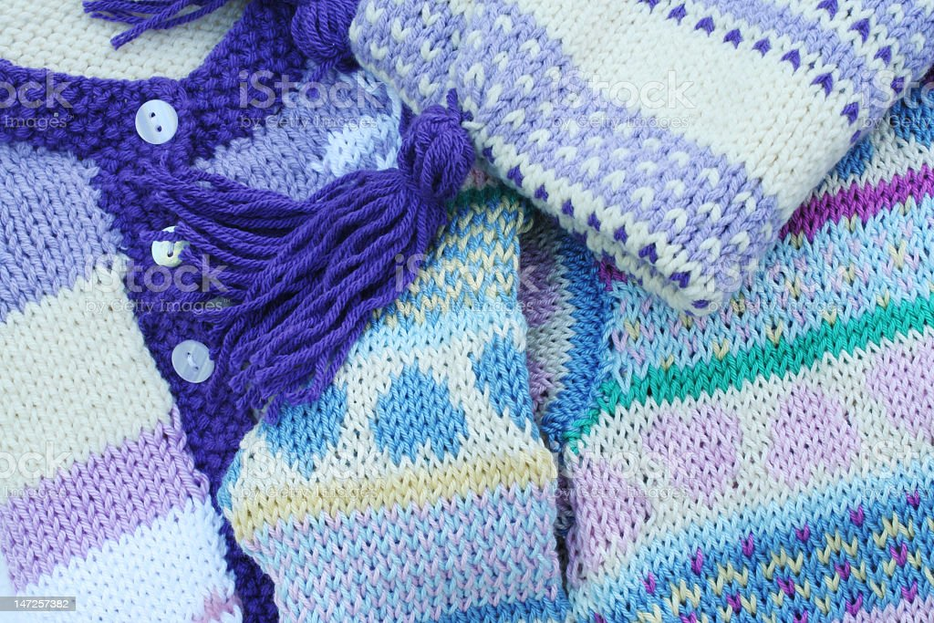 Hand knitting royalty-free stock photo
