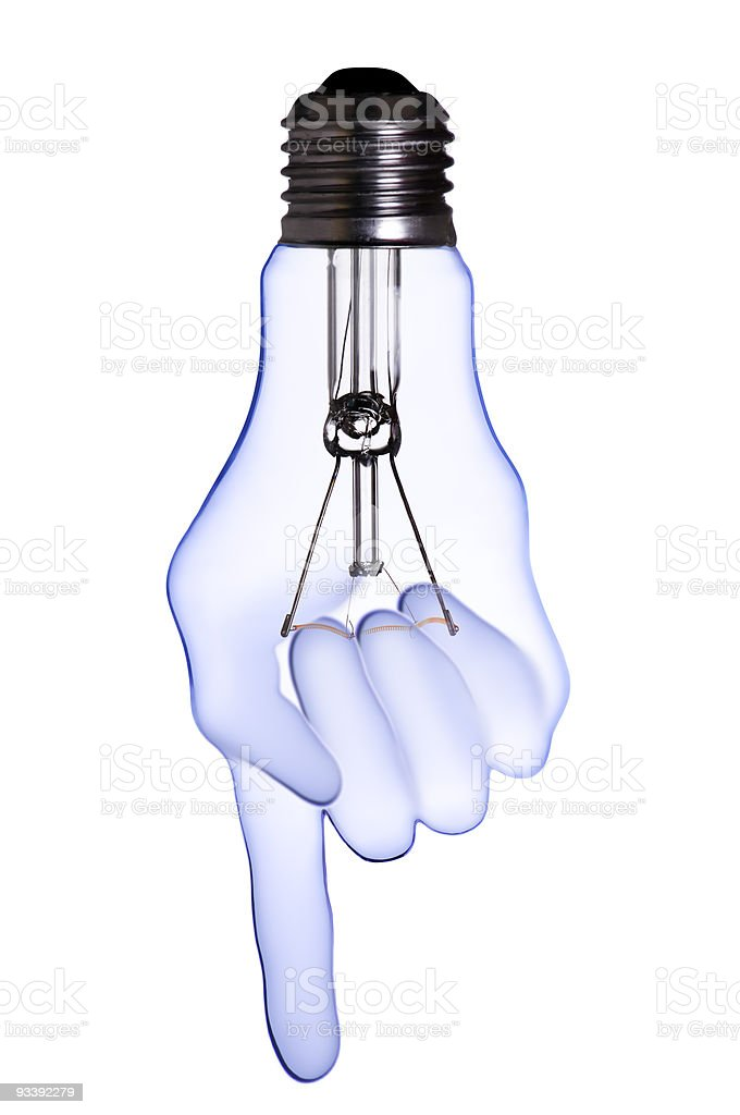 hand lamp bulb royalty-free stock photo