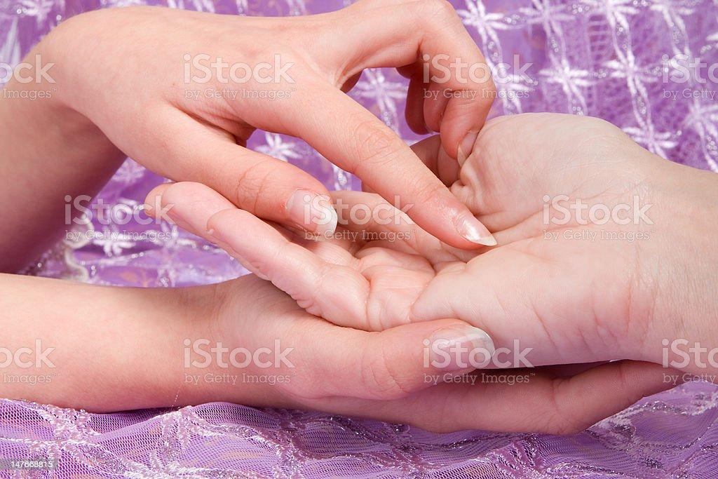 Hand lines stock photo