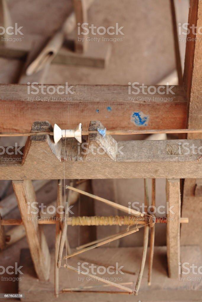 Hand loom-Lu hill tribe. Sop Chem village-Luang Prabang province-Laos. 3957 stock photo