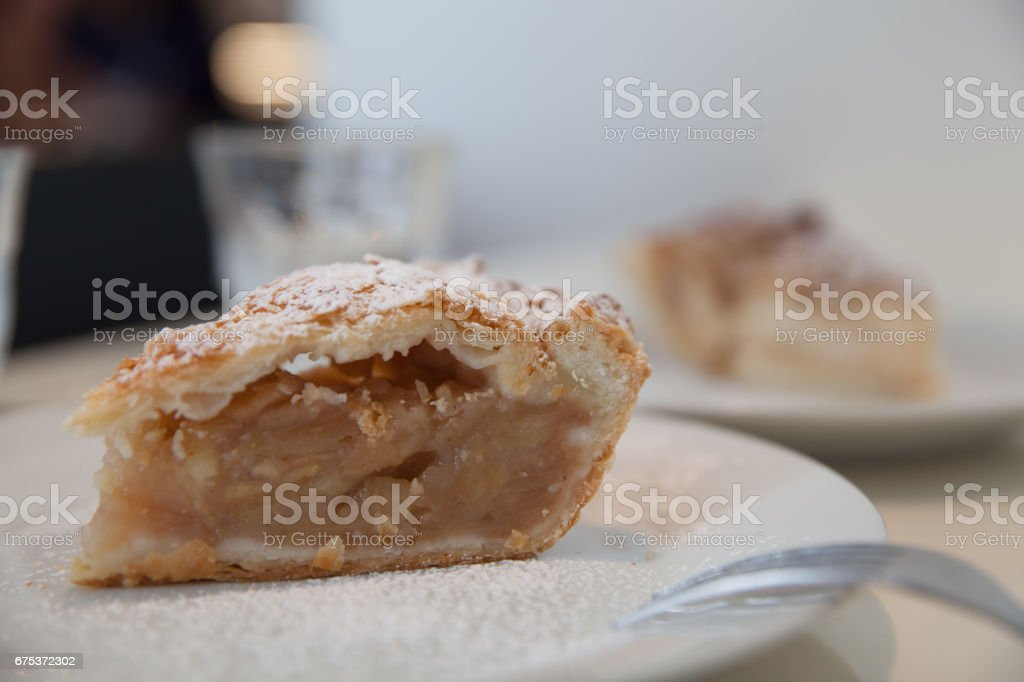 Hand made apple pie stock photo