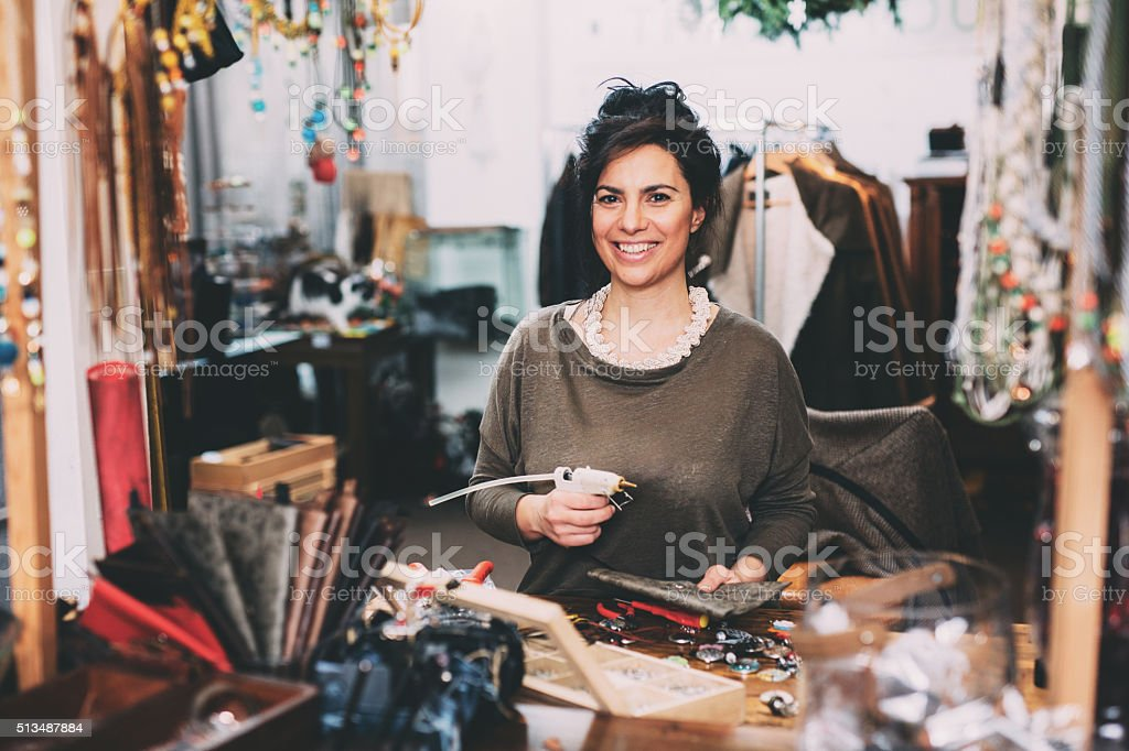 Hand made bag stock photo