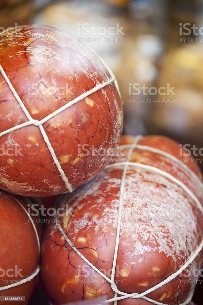 Hand Made Bologna Mortadella stock photo
