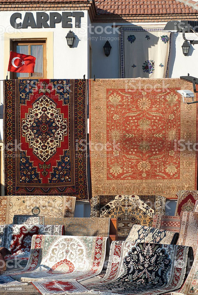 Hand made carpets royalty-free stock photo
