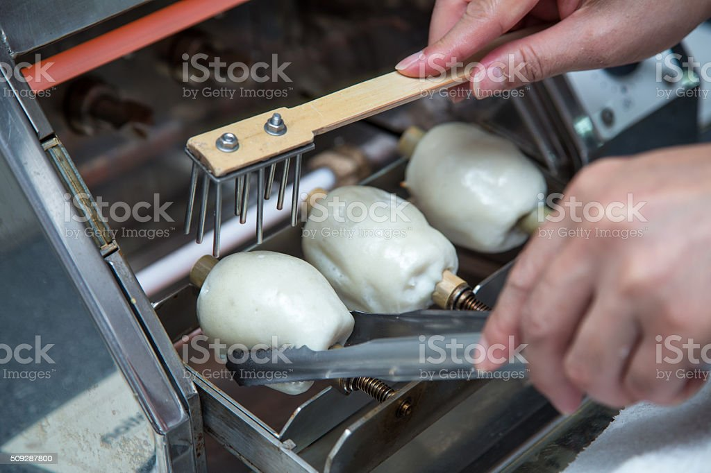 Hand Made Chikuwa, Traditional Japanese Food stock photo