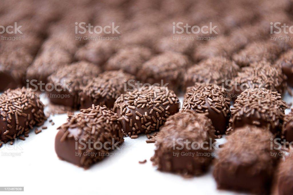 Hand Made Chocolates royalty-free stock photo