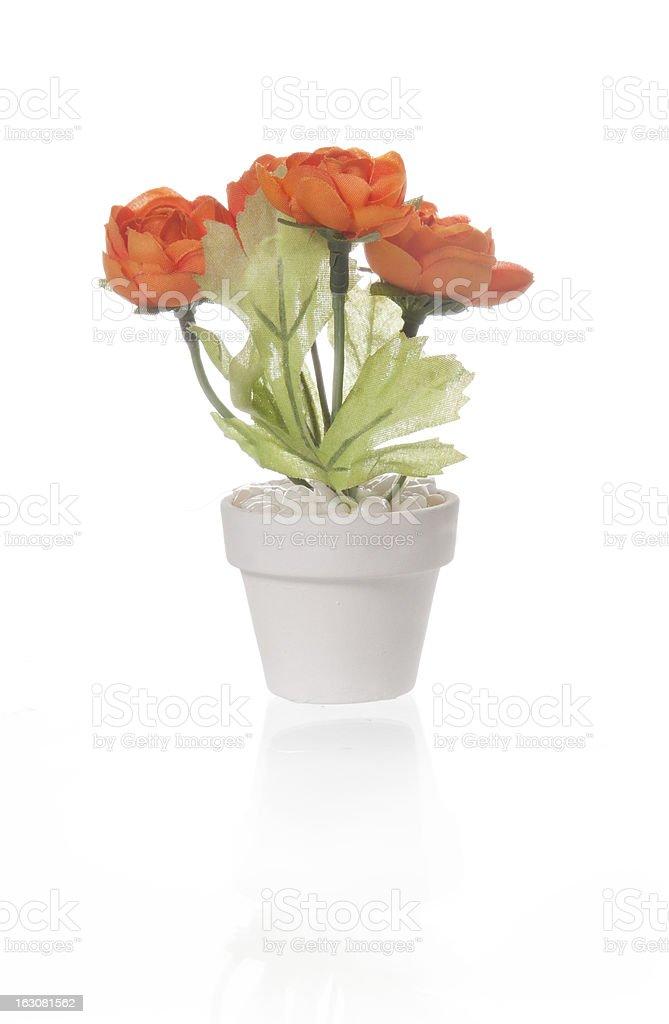 Hand made flowers stock photo