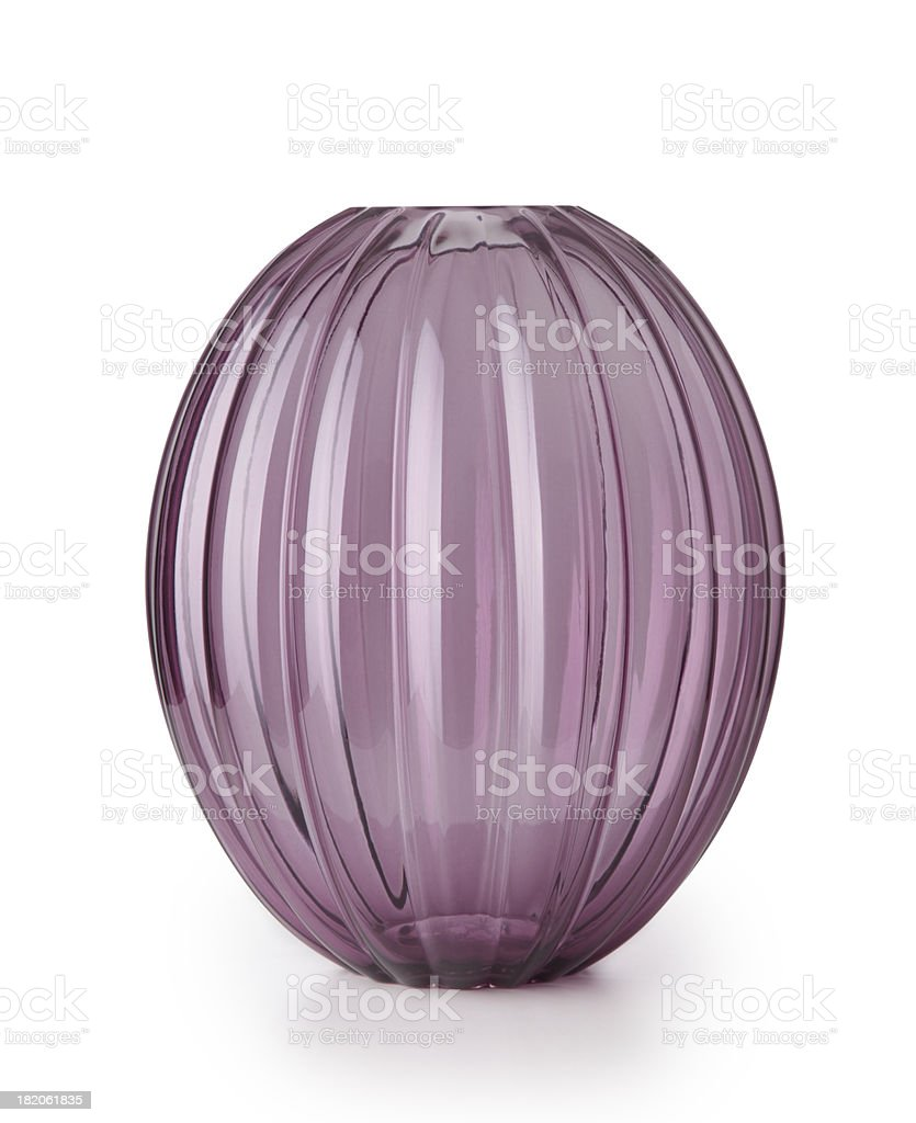 Hand made glass jar stock photo