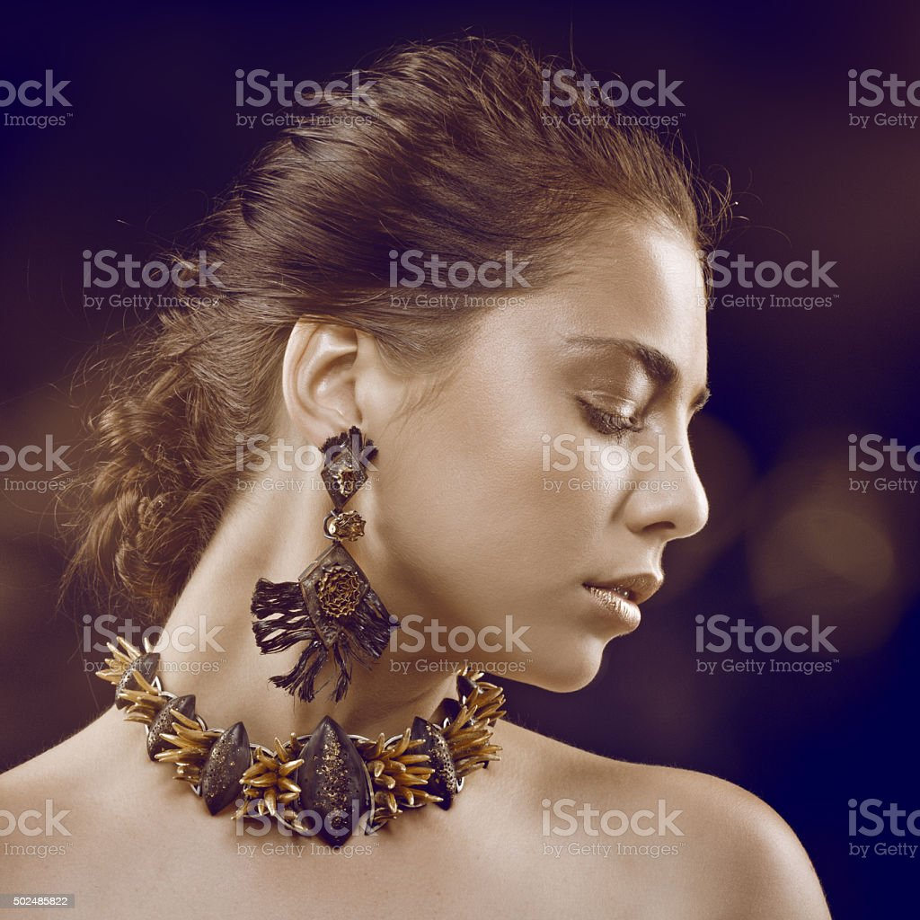 hand made jewellery stock photo