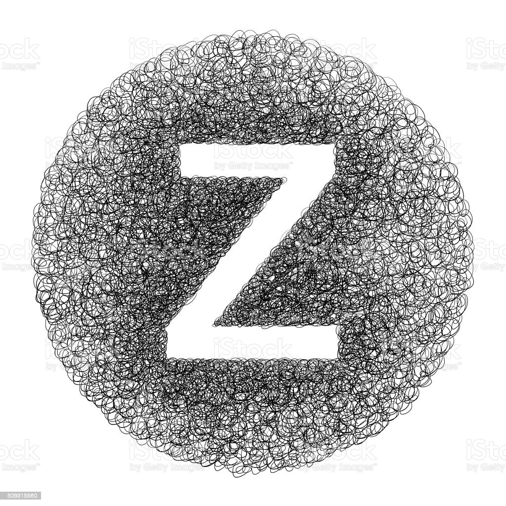 Hand made letter Z stock photo
