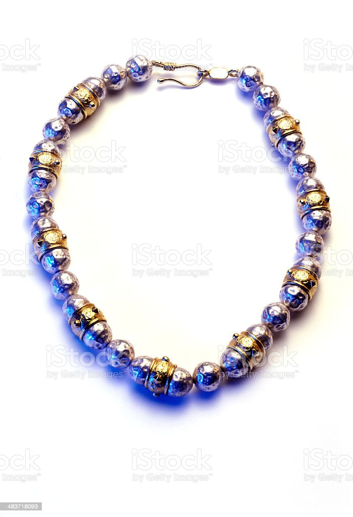 hand made necklace royalty-free stock photo