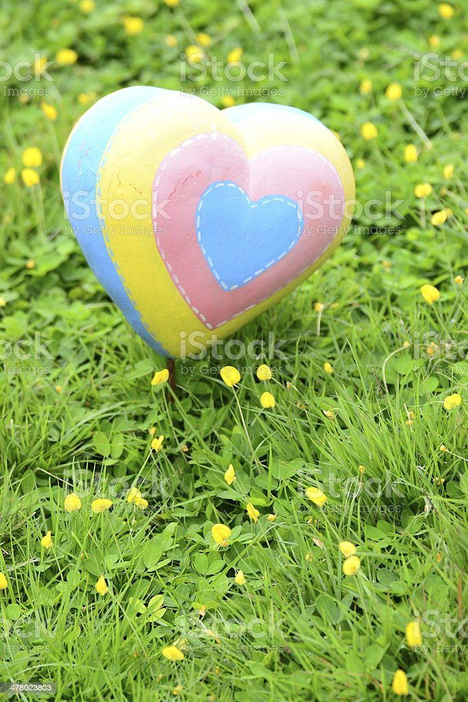 Hand made of Colorful Heart royalty-free stock photo
