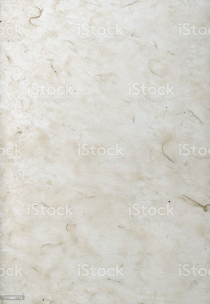 Hand made paper with large fibres stock photo