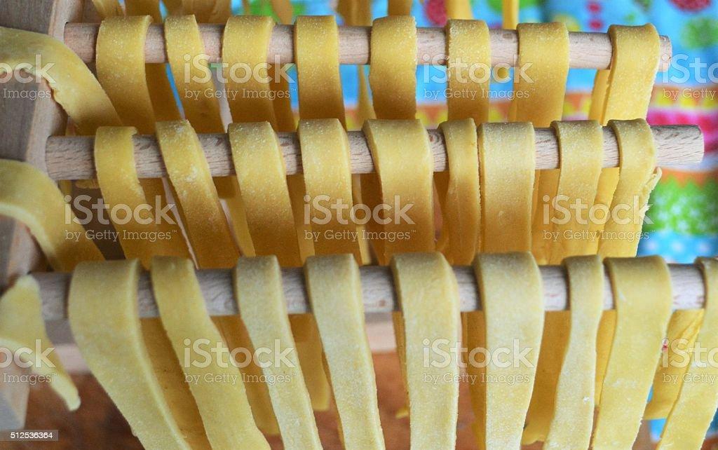 hand made pasta stock photo